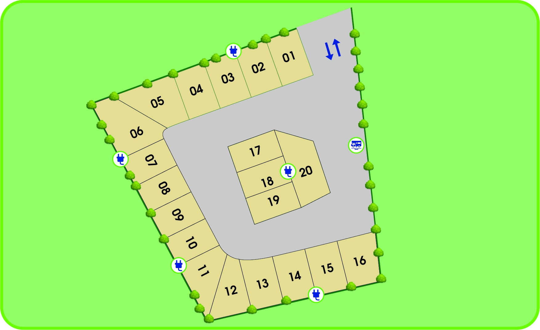 Plan of the area