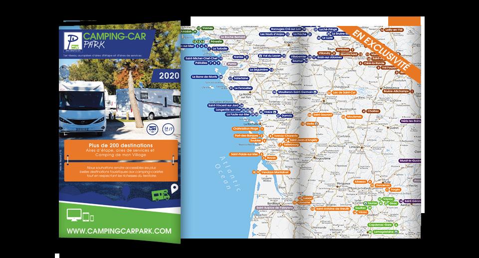 Carte routière 2020 CAMPING-CAR PARK
